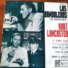 Discos de vinilo: THE HIGHWAYMEN BURT LANCASTER ********* RARO EP ESPAÑOL BIRD MAN OF ALCATRAZ 1962. Lote 243493505