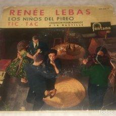 Discos de vinilo: EP RENÉE LEBAS CON ANDRÉ POPP Y ORQUESTA - LOS NIÑOS DEL PIREO Y OTROS - FONTANA -PEDIDOS MINIMO 7€. Lote 243500480