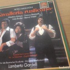 Discos de vinilo: VINILO CAVALLERIA RUSTICANA CON PIETRO MASCAGNI, VERGA, TARGIONI-TOZZETI Y MENASCI. Lote 243509830