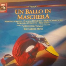 Discos de vinilo: VINILO UN BALLO IN MASCHERA DE VERDI CON PLACIDO DOMINGO,MARTINA, PIERO CAPPUCCILLI...RICCARDO MUTI. Lote 243510820
