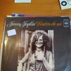 Discos de vinilo: JANIS JOPLIN. DENTRO DE MÍ. SINGLE. Lote 243524145