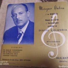 Discos de vinilo: MESEGUER ANDREU Y SU ORQUESTA–RITMOS DEL CARIBE Y SURAMERICANOS GRABADOS EN DISCOS COLUMBIA . EP. Lote 243525605