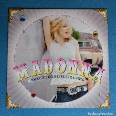Discos de vinilo: VINILO (EXCELENTE ESTADO) MADONNA - WHAT IT FEELS LIKE FOR A GIRL (2001 WARNER BROS RECORDS). Lote 243526375