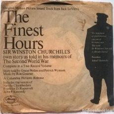 Discos de vinilo: SIR WINSTON CHURCHILL'S. THE FINEST HOUS (BSO). MERCURY, UK SINGLE. Lote 243497390