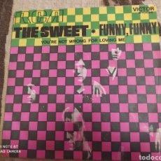 Discos de vinilo: THE SWEET. FUNNY FUNNY. SINGLE VINILO. BUEN ESTADO. Lote 243528420