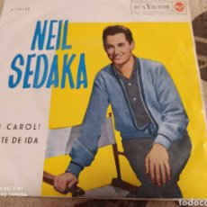 Discos de vinilo: NEIL SEDAKA - OH CAROL! / BILLETE DE IDA . SINGLE SPAIN 1959 - BUEN ESTADO -. Lote 243531730