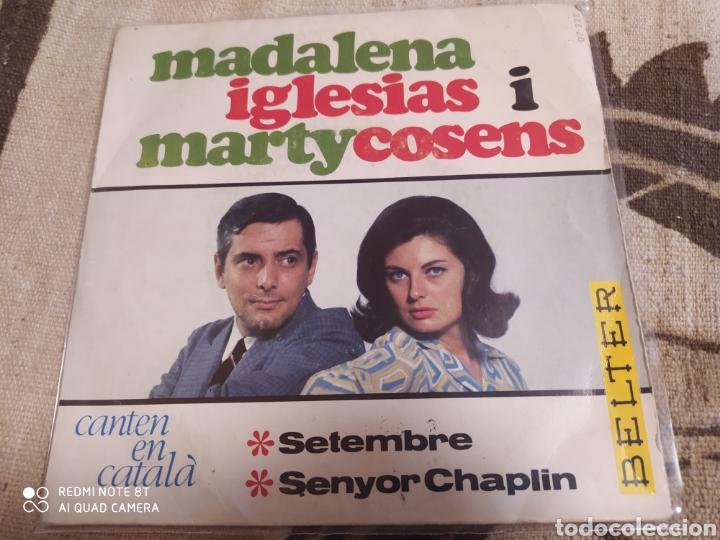 MADALENA IGLÉSIASIMARTY COSENS -CANTEN EN CATALÀ: SETEMBRE / SENYOR CHAPLIN . EP 1966. (Música - Discos - Singles Vinilo - Grupos Españoles 50 y 60)