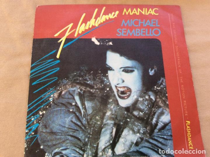 MICHAEL SEMBELLO, MANIAC (VOCAL Y INSTRUMENTAL). BSO. FLASHDANCE. 1983 (Música - Discos - Singles Vinilo - Bandas Sonoras y Actores)