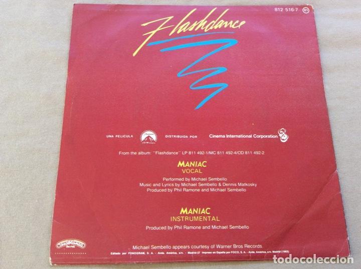 Discos de vinilo: MICHAEL SEMBELLO, MANIAC (VOCAL Y INSTRUMENTAL). Bso. Flashdance. 1983 - Foto 2 - 243549555