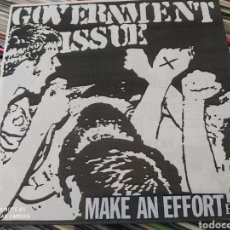 Discos de vinilo: GOVERNMENT ISSUE ‎– MAKE AN EFFORT EP VINILO BLANCO. EDICION BELGICA 2002. NUEVO.. Lote 243558215