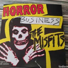 Discos de vinil: MISFITS ‎– HORROR BUSINESS . SINGLE VINILO AMARILLO. NUEVO. Lote 243562555