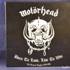 Discos de vinilo: MOTÖRHEAD - BORN TO LOSE, LIVE TO WIN - THE BRONZE SINGLES 1978-1981 - 7 SINGLES. Lote 243567050