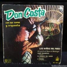 Discos de vinilo: DON COSTA - LOS NIÑOS DEL PIREO 1960. Lote 243573125