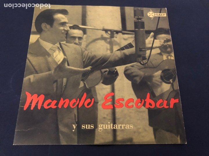EP MANOLO ESCOBAR Y SUS GUITARRAS /DEBAJO DE LOS OLIVOS/SEVILLA LA NOVIA/PASODOBLE TE QUIERO/AL GARR (Música - Discos de Vinilo - EPs - Flamenco, Canción española y Cuplé)