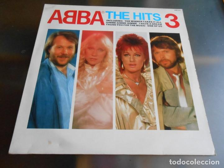 ABBA, - THE HITS 3 -, LP, THE WINNER TAKES IT ALL + 13, AÑO 1988 MADE IN ENGLAND (Música - Discos - LP Vinilo - Pop - Rock - New Wave Extranjero de los 80)