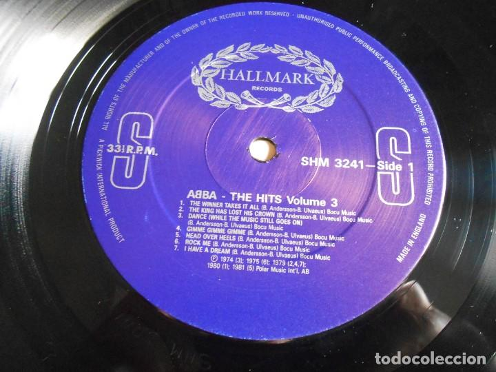 Discos de vinilo: ABBA, - THE HITS 3 -, LP, THE WINNER TAKES IT ALL + 13, AÑO 1988 MADE IN ENGLAND - Foto 3 - 243606620