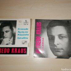 Discos de vinilo: LOTE 2 SINGLES DE ALFREDO KRAUS. Lote 243607085