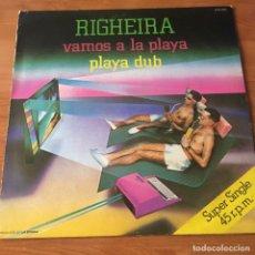 Discos de vinilo: RIGHEIRA – VAMOS A LA PLAYA. Lote 243607130