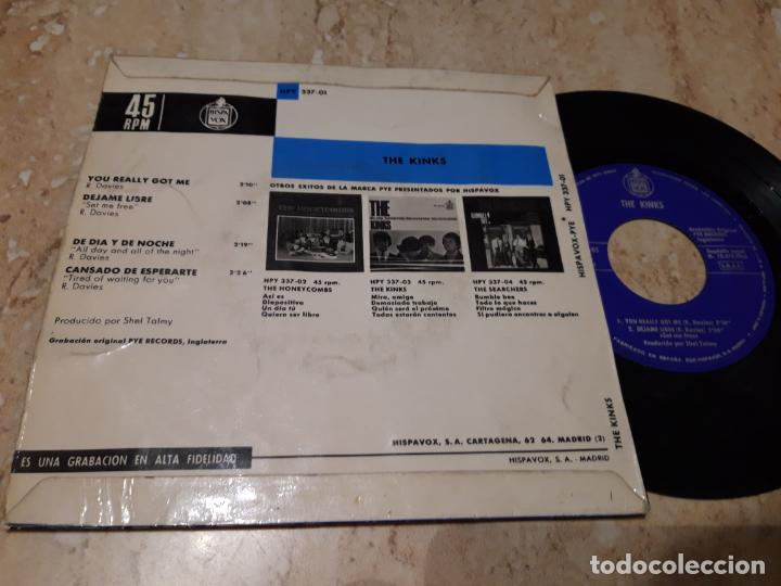 Discos de vinilo: THE KINKS. YOU REALLY GOT ME + 3. EP. HISPAVOX 1965- - Foto 2 - 243618695
