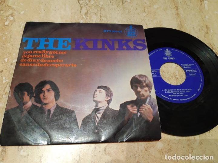 THE KINKS. YOU REALLY GOT ME + 3. EP. HISPAVOX 1965- (Música - Discos de Vinilo - EPs - Pop - Rock Internacional de los 50 y 60)