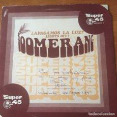Discos de vinilo: BOOMERANG (12) – ¿APAGAMOS LA LUZ?. Lote 243620215