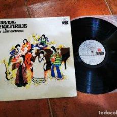Discos de vinilo: BRASIL AQUARIUS Y LUIZ ANTONIO LP VINILO DEL AÑO 1973 ESPAÑA CONTIENE 11 TEMAS. Lote 243621105