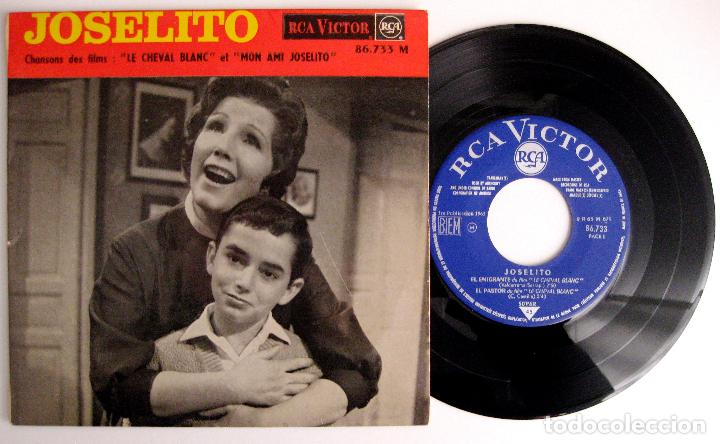 JOSELITO - LE CHEVAL BLANC (EL CABALLO BLANCO) - EL EMIGRANTE +3 - EP RCA VICTOR 1963 FRANCIA BPY (Música - Discos de Vinilo - EPs - Bandas Sonoras y Actores)