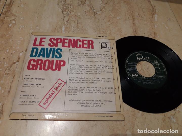Discos de vinilo: LE SPENCER DAVIS GROUP KEEP ON RUNNING+3-RARA EDICION FRANCIA-EP-1965- Fontana – 465 297 ME - Foto 2 - 243624340