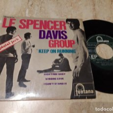 Discos de vinilo: LE SPENCER DAVIS GROUP KEEP ON RUNNING+3-RARA EDICION FRANCIA-EP-1965- FONTANA – 465 297 ME. Lote 243624340