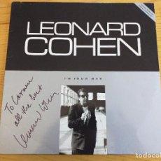 Discos de vinilo: LEONARD COHEN - I'M YOUR MAN- DEDICADO Y FIRMADO - CBS 460642-1 - 1988- EXCLUSIVO Y COMO NUEVO. Lote 243627110