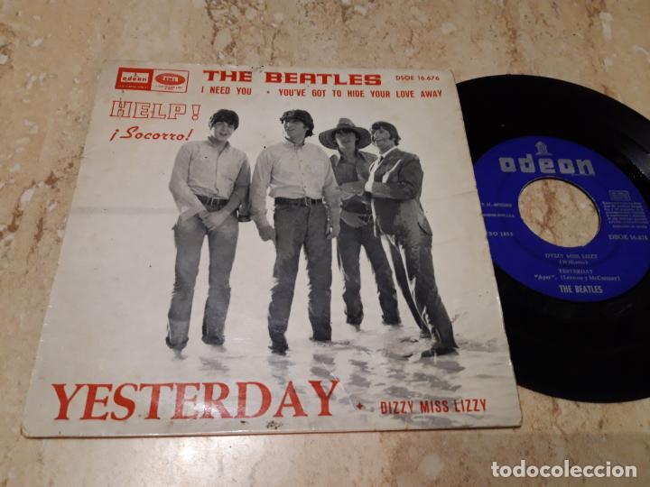 THE BEATLES - YESTERDAY - DSOE 16.676 - ED. ESPAÑOLA 1965-LABEL AZUL OSCURO (Música - Discos de Vinilo - EPs - Pop - Rock Internacional de los 50 y 60)