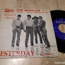 Discos de vinilo: THE BEATLES - YESTERDAY - DSOE 16.676 - ED. ESPAÑOLA 1965-LABEL AZUL OSCURO. Lote 243630330