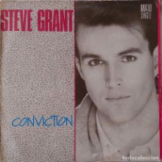 Discos de vinilo: STEVE GRANT. CONVICTION. MAXISINGLE ESPAÑA 2 TEMAS. Lote 243630860