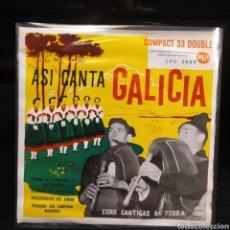 Discos de vinilo: CORO CANTIGAS DA TERRA - ASI CANTA GALICIA 1961. Lote 243637030