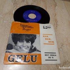 Discos de vinilo: GELU - REIR, REIR, REIR / MUY CERCA DE TI - SINGLE LA VOZ DE SU AMO 1966 - FESTIVAL DE MALLORCA. Lote 243643465