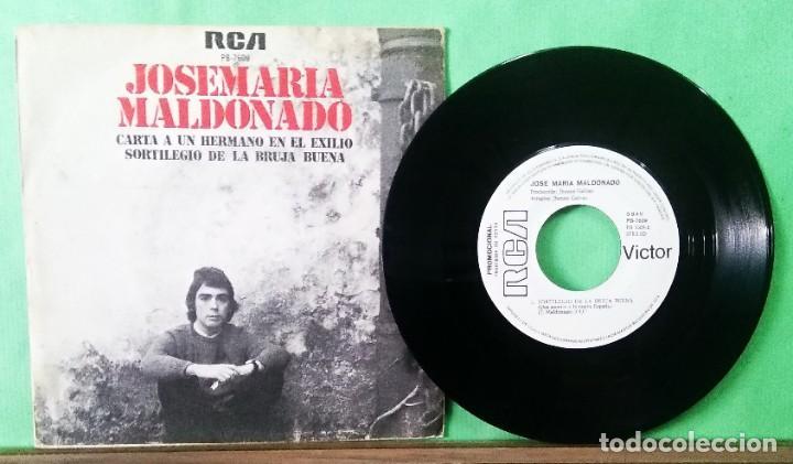 JOSE MARIA MALDONADO.CANTA A UN HERMANO..., TRATADO CON ALCOHOL ISOPROPÍLICO - AZ (Música - Discos - Singles Vinilo - Cantautores Españoles)