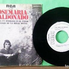 Discos de vinilo: JOSE MARIA MALDONADO.CANTA A UN HERMANO..., TRATADO CON ALCOHOL ISOPROPÍLICO - AZ. Lote 243647925
