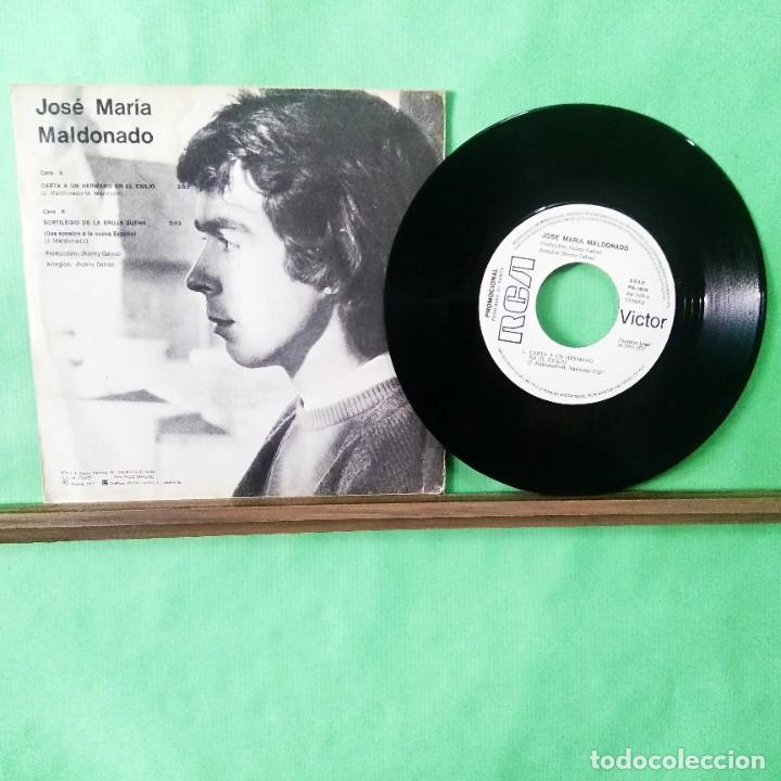 Discos de vinilo: JOSE MARIA MALDONADO.CANTA A UN HERMANO..., TRATADO CON ALCOHOL ISOPROPÍLICO - AZ - Foto 2 - 243647925