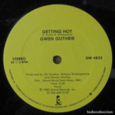 Discos de vinilo: GWEN GUTHRIE - IT SHOULD HAVE BEEN YOU / GETTING OUT - 1982 - MAXI, EDICIÓN AMERICANA. Lote 243649260
