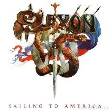 Discos de vinilo: SAXON SAILING TO AMERICA. Lote 243649900