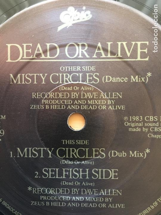 Discos de vinilo: DEAD OR ALIVE. Mysty circles (vinilo maxi 1983) - Foto 3 - 243650420