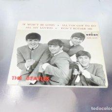 Discos de vinilo: THE BEATLES --IT WON´T BE LONG + 3 --- 1964 --LABEL AZUL FUERTE ---VINILO VG+ FUNDA MINT ( M ) --. Lote 243655460