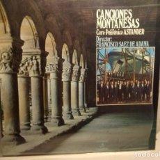 Discos de vinilo: LP CORO POLIFONICO ASTANDER : CANCIONES MONTAÑESAS ( FOLK DE CANTABRIA ). Lote 243660835