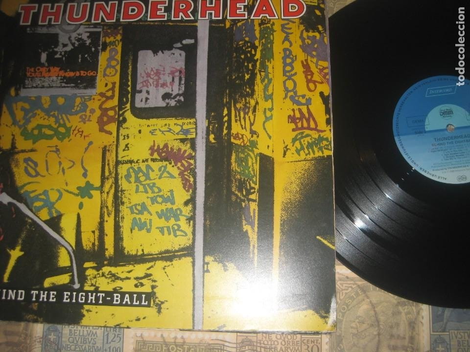 THUNDERHEAD - BEHIND THE EIGHT - BALL - (INTERCORD 1989 )OG . GERMANY - PORTADA ABIERTA SIN SEÑALES (Música - Discos - LP Vinilo - Heavy - Metal)