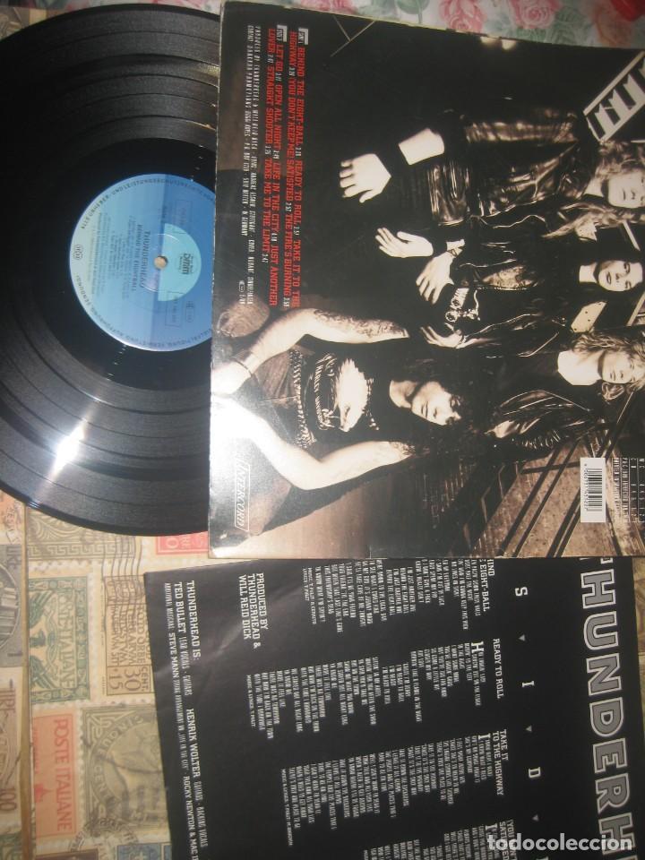 Discos de vinilo: Thunderhead - Behind the Eight - Ball - (INTERCORD 1989 )OG . Germany - Portada abierta sin señales - Foto 3 - 243665615