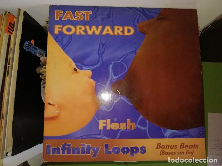 DISCO FAST FORWARD. FLESH - INFINITY LOOPS . BONUS BEATS(BASES SIN FIN) (Música - Discos de Vinilo - Maxi Singles - Techno, Trance y House)