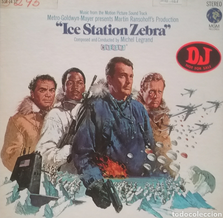ICE STATION ZEBRA (BANDA SONORA). LP. PORTADA DOBLE. SELLO MGM RECORDS. EDITADO EN U.S.A. (Música - Discos - LP Vinilo - Bandas Sonoras y Música de Actores )