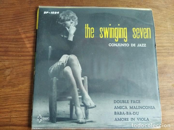 THE SWINGING SEVEN - CONJUNTO DE JAZZ **** RARO EP JAZZ ITALIANO SAEF 1960 (Música - Discos de Vinilo - EPs - Jazz, Jazz-Rock, Blues y R&B)