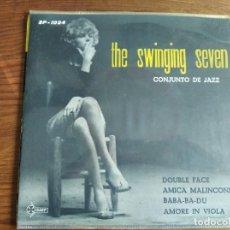 Discos de vinilo: THE SWINGING SEVEN - CONJUNTO DE JAZZ **** RARO EP JAZZ ITALIANO SAEF 1960. Lote 243668675