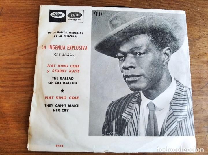 NAT KING COLE - LA INGENUA EXPLOSIVA BSO **** RARO SINGLE ESPAÑOL 1965 (Música - Discos de Vinilo - EPs - Jazz, Jazz-Rock, Blues y R&B)